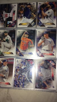 nine assorted baseball collectible card New Tecumseth, L0G