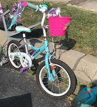 Girl's blue and white bicycle Laval, H7X