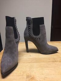 Pair of black and gray suede heeled booties(Kendall and Kylie) San Marcos, 92069