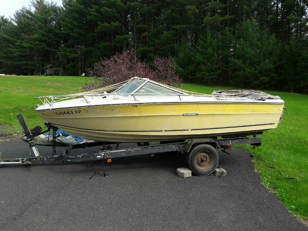 1976 SeaRay SRV 180 Runabout PROJECT Boat w/Trlr