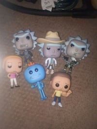 6 Rick and Morty Pop figures Calgary, T3A 2L7