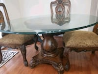 round brown wooden pedestal table Woodbridge, 22191