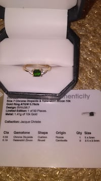 10k Chrome Diopside and Zircon ring Paris, 40361