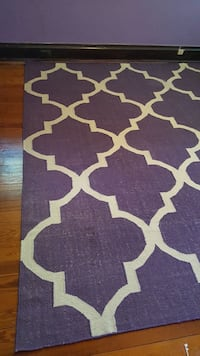 "purple and white area rug 9'3"" x 7'9"""
