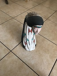 White and black ceramic figurine $35 OBO Rio Rancho, 87144