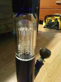 clear and black glass bong Riverside, 92503