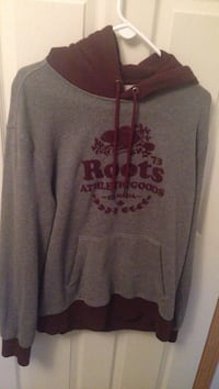 Grey and Red Roots Pull Over Hoodie  Toronto, M1C 1S1