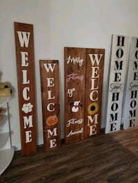 Custom Hand Painted Wooden Front Porch Signs