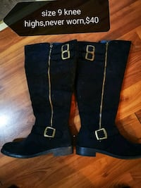 pair of black suede boots Central Okanagan, V4T 2G9