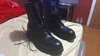 Black leather laced boots Islip, 11717