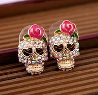 Beautiful Skull Diamond Earrings! Regina, S4X 3B6