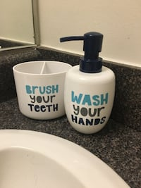 Toothbrush cup and soap dispenser 25 mi