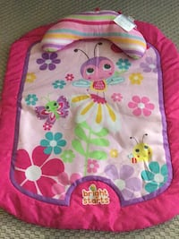 pink and white floral backpack 506 km