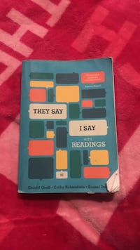They Say I Say with Readings 3rd Edition  Halethorpe, 21227