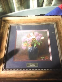 painting of purple flowers with brown wooden frame Toledo, 43605