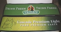 Official Branded Strongbow Cider and Cascade Premium Light Rubber Backed Bar Mats