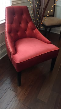 red and black fabric sofa chair Ashburn, 20148