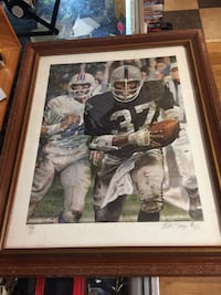 Raiders Lester Hayes Autographed & Numbered Framed Print Washougal, 98671