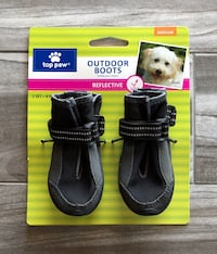 """NEW - 1Set (2 Pairs) of """"Top Paw"""", Reflective,  Outdoor Dog Boots Lincoln, 68516"""