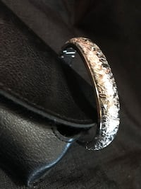 silver-colored ring