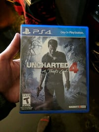 Uncharted 4 PS4 game case Houston, 77061