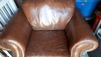 Brown leather padded sofa chair Toronto, M6N 2V9