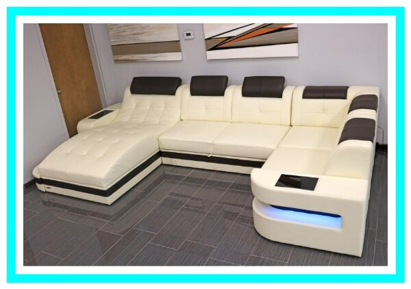 Super Leather Sofa Couch Sectional Luxury Led Lights Usb Machost Co Dining Chair Design Ideas Machostcouk