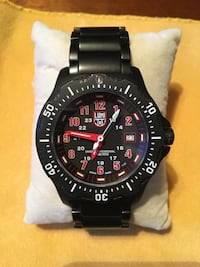 Luminox - round black and red analog watch with black link bracelet Tampa, 33629
