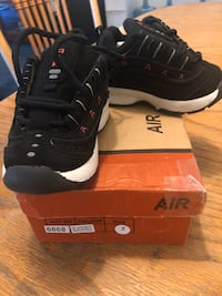 New in box Cute Baby Size 2 Air Suede black Air shoe
