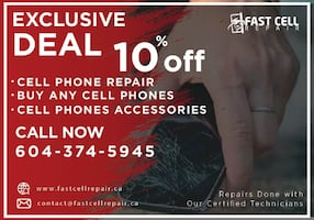 10% OFF On Cell Phone Repair and All Accessories