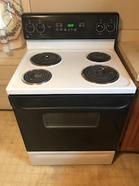 white and black 4-burner electric coil range oven Knoxville, 37917