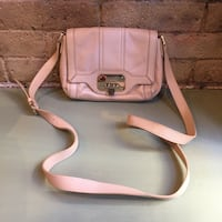 Cole Haan Flap Crossbody In Nude Leather