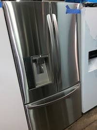 LG stainless steel counter depth french doors fridge Baltimore, 21223