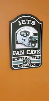 New york jets fan cave wooden sign Lakeshore, N0R 1A0