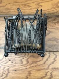Metal and glass candle holder  Charlotte, 28216