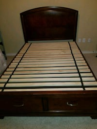black and brown wooden bed frame Frisco, 75035