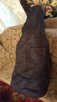 New padded 4/4 cello gig bag. Or insulated guitar