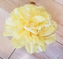 NEW Yellow Lace Flower Hair Clip