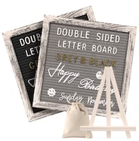 Gelibo Double Sided Letter Board with 750 Precut White & Gold Letters Washington, 20016