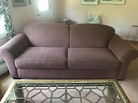 Rose colored couch and love seat