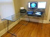 Glass desk and monitors Syracuse