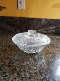 6 inch glass candy dish  Los Angeles, 91342