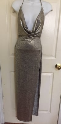 Casual open slit deep v neck dress Brampton, L6R 2K7