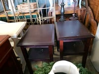 rectangular brown wooden table with four chairs Calhoun, 30701