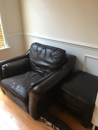 Arm chair and footrest (needs upholstery) Arlington, 22204