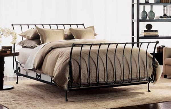 used queen wrought iron sleigh bed for sale in new york letgo rh gb letgo com