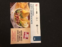 Jack Astors gift certificate and free appetizer  Toronto, M4A 1W5