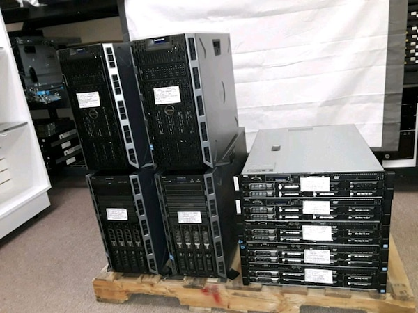 LOT OF 9 DELL SERVERS COMPLETES