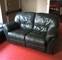 Black leather 3-seat sofa New Westminster, V3M 4X5