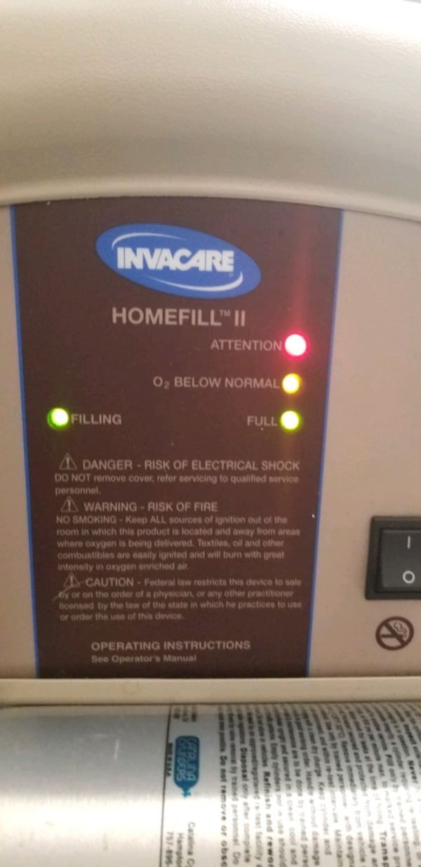 Invacare HomeFill Compressor IOH200 - Pre owned 6